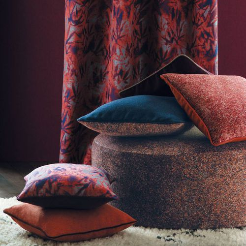 upholstery fabric / for curtains / plain / patterned