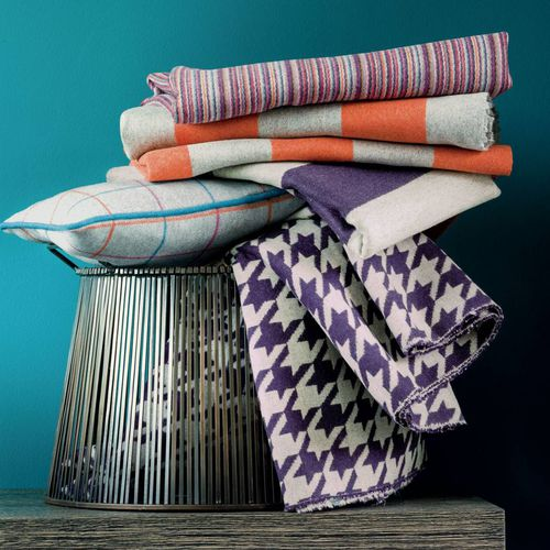 upholstery fabric / for curtains / striped / wool