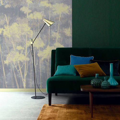 contemporary wallpaper / nature pattern / white / black