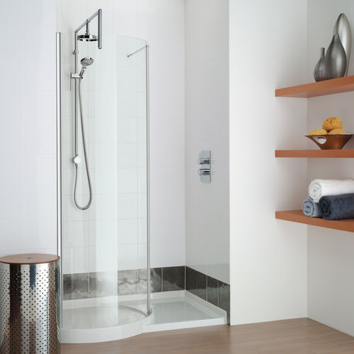 Fixed shower screen / curved / for alcove / glass WIR1200 matki showering