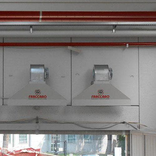 ceiling-mounted air curtain / industrial