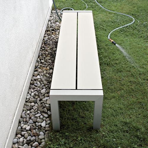 garden bench / contemporary / aluminum / laminate