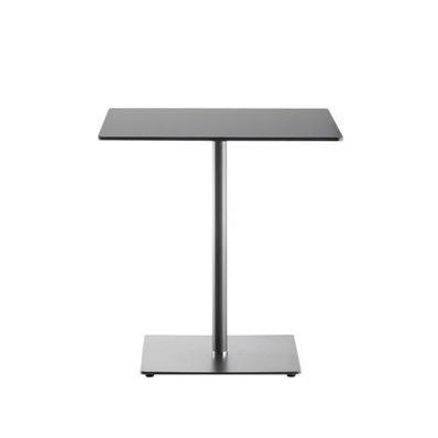 contemporary bistro table / steel / crystal / square
