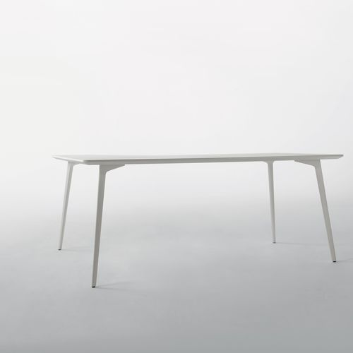 contemporary table / MDF / aluminum / rectangular