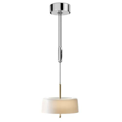 pendant lamp / contemporary / aluminum / oak