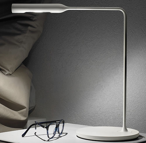 bedside table lamp / contemporary / aluminum / steel