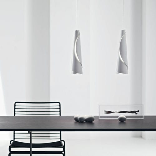 Pendant lamp / contemporary / aluminum / LED MAKI FOSCARINI