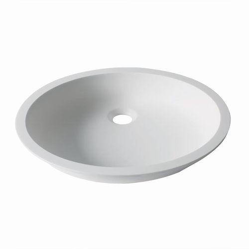 Undercounter washbasin / oval / Krion® / contemporary D401 43X35 1100 E SYSTEMPOOL -  KRION® Porcelanosa Solid Surface