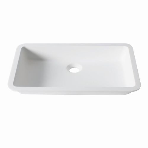 Undercounter washbasin / rectangular / Krion® / contemporary D801 48x28 1100 E SYSTEMPOOL -  KRION® Porcelanosa Solid Surface