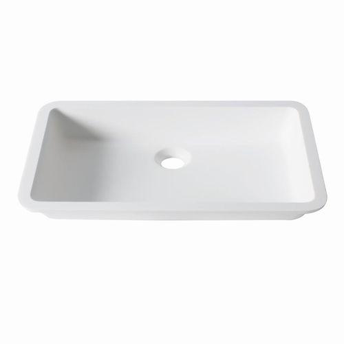 undercounter washbasin / rectangular / Krion® / contemporary