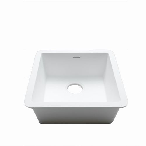 Single-bowl kitchen sink / Krion® / square / commercial C604 40X40 E SYSTEMPOOL -  KRION® Porcelanosa Solid Surface