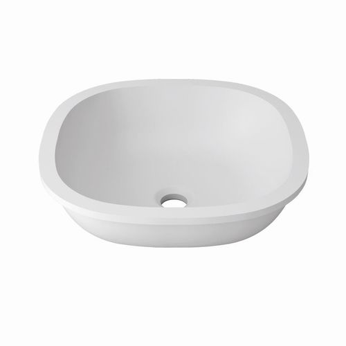 Undercounter washbasin / Krion® / contemporary / commercial B604 38X38 E SYSTEMPOOL -  KRION® Porcelanosa Solid Surface