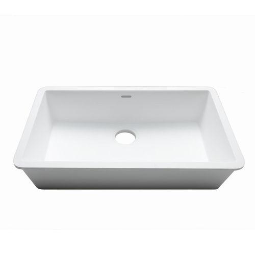 single-bowl kitchen sink / Krion® / commercial
