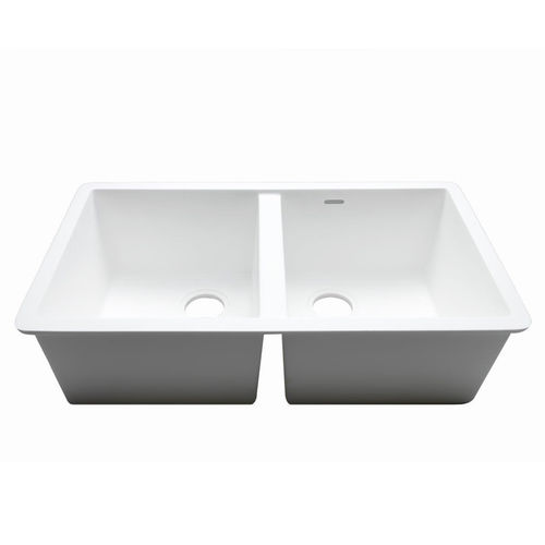 2-bowl kitchen sink / Krion® / commercial C826 77X40 2S E SYSTEMPOOL -  KRION® Porcelanosa Solid Surface