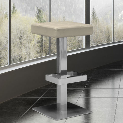 contemporary bar stool / metal / synthetic leather / commercial