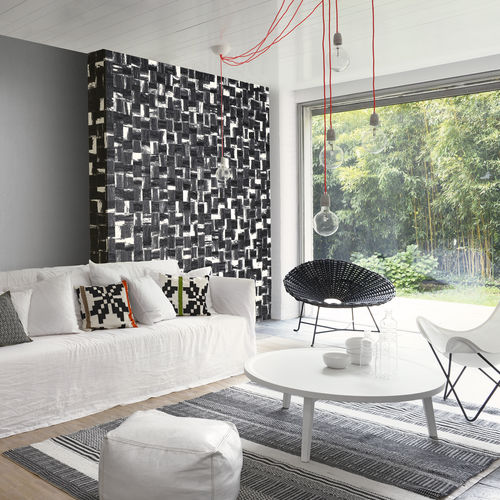 contemporary wallpaper / patterned / mosaic look