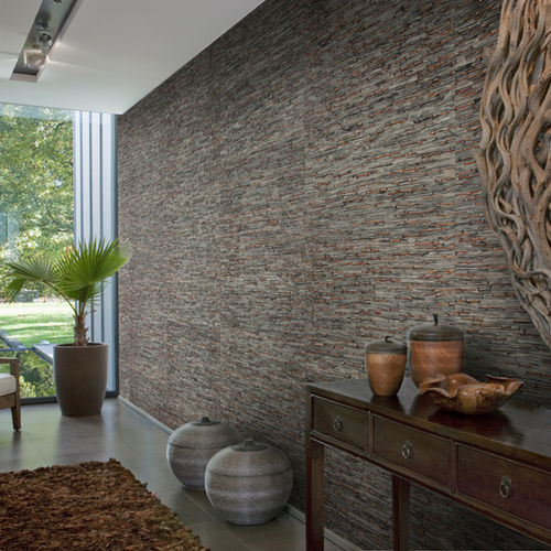 natural fiber wallcovering / home / textured / stone look