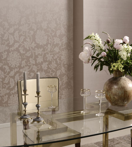 wall fabric / floral pattern / viscose