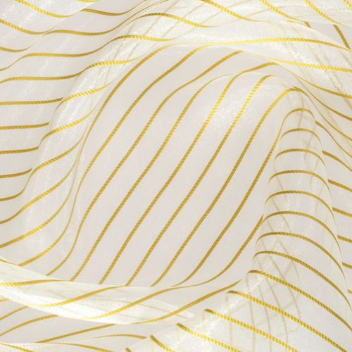 striped sheer curtain fabric / polyester / fire-rated / fire-retardant
