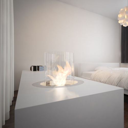 Bioethanol fireplace / contemporary / open hearth / central RONDO COMMERCE Planika