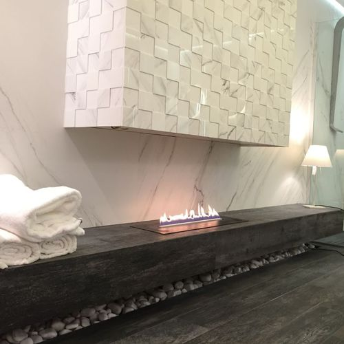 bioethanol fireplace insert / remote-controlled