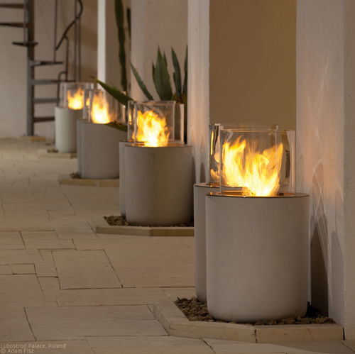 Bioethanol fireplace / contemporary / open hearth / central JAR COMMERCE by Christophe Pillet Planika