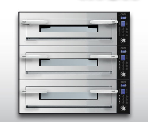 Electric oven / commercial / pizza / 3-chamber OPTYMO CONCEPT: 435/3 INOX OEM - Pizza System