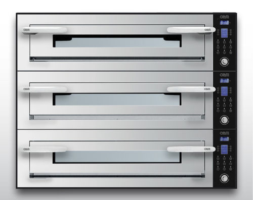Electric oven / commercial / pizza / 3-chamber OPTYMO CONCEPT: 635L/3 INOX OEM - Pizza System