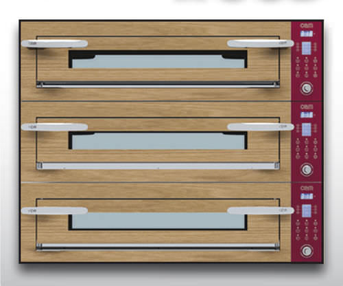 Commercial oven / electric / pizza / 3-chamber OPTYMO CONCEPT: 635L/3 WOOD OEM - Pizza System