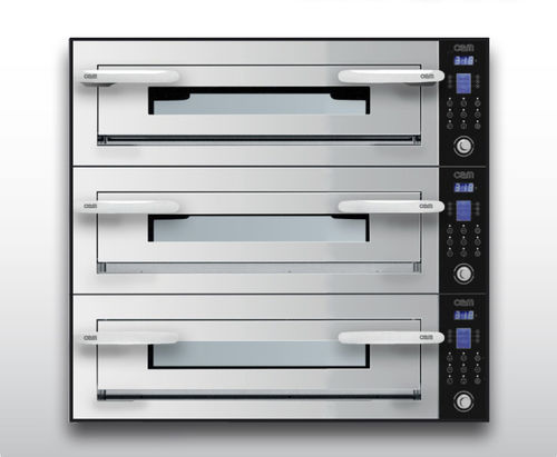 Electric oven / commercial / pizza / 3-chamber OPTYMO CONCEPT: 635S/3 INOX OEM - Pizza System