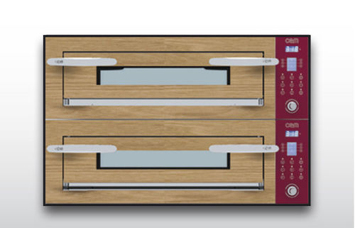 Electric oven / commercial / pizza / 2-chamber OPTYMO CONCEPT: 635S/2 WOOD OEM - Pizza System