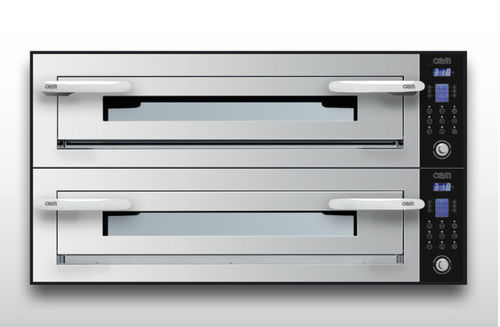 Electric oven / professional / pizza / 2-chamber OPTYMO CONCEPT: 935/2 INOX OEM - Pizza System