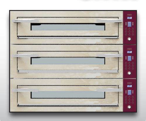 Electric oven / professional / pizza / 3-chamber OPTYMO CONCEPT: 935/3 ONYX OEM - Pizza System