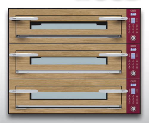 Electric oven / commercial / pizza / 3-chamber OPTYMO CONCEPT: 935/3 WOOD OEM - Pizza System