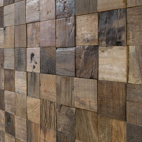 indoor mosaic tile / wall / wooden / square