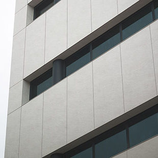 ceramic cladding / smooth / panel / large format