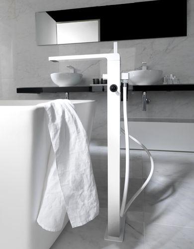 Double-handle bathtub mixer tap / free-standing / chromed metal / bathroom LOUNGE Noken  Porcelanosa Bathrooms