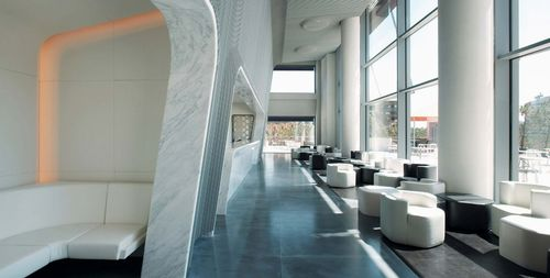 indoor tile / floor / granite / polished