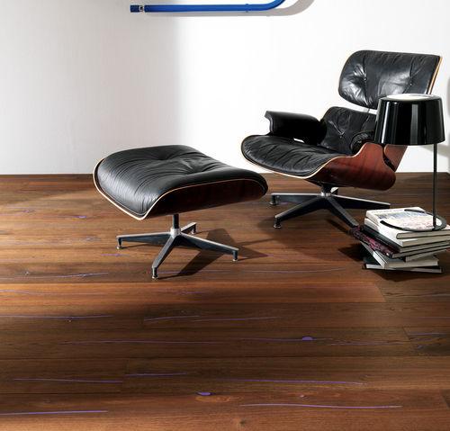 engineered parquet floor / glued / floating / oak