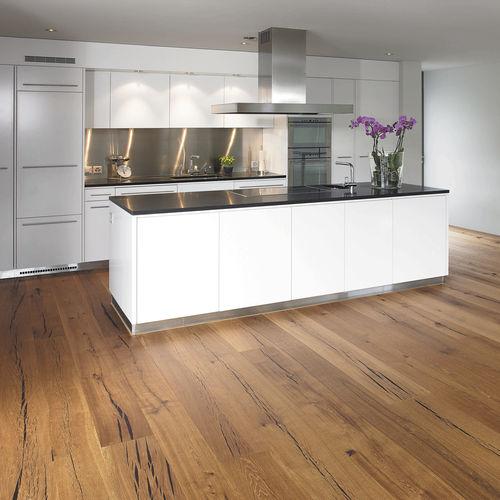 Engineered parquet flooring / glued / floating / oak TIGER OAK BLACK BRUSHED / NATURAL OIL MAFI