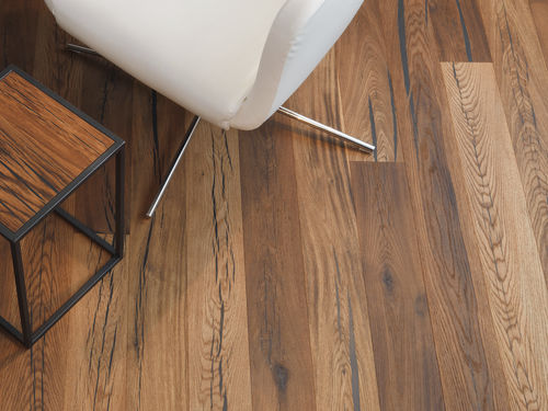 Engineered parquet flooring / oak / oiled / FSC-certified TIGER OAK BLACK BRUSHED WHITE OILED MAFI