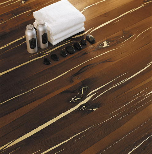 Engineered parquet flooring / oak / oiled / FSC-certified TIGER OAK WHITE BRUSHED NATURAL OILED MAFI