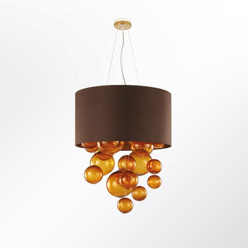 pendant lamp / contemporary / glass / fabric