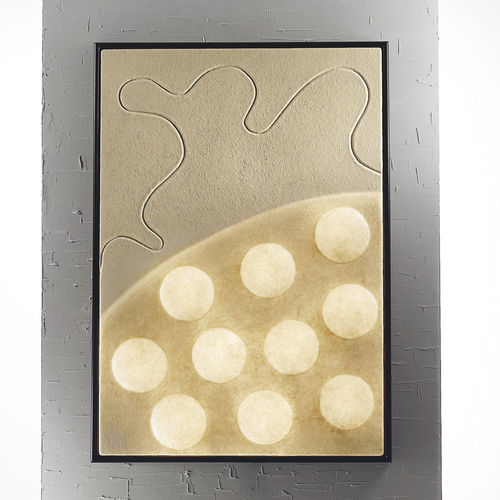 contemporary wall light / wood / in Nebulite® / LED