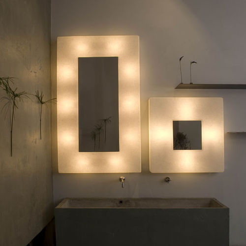 Contemporary wall light / steel / in Nebulite® / LED LUNA : EGO in-es artdesign