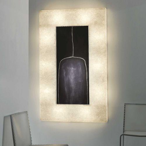 Contemporary wall light / canvas / steel / in Nebulite® LUNA : LUNAR BOTTLE in-es artdesign