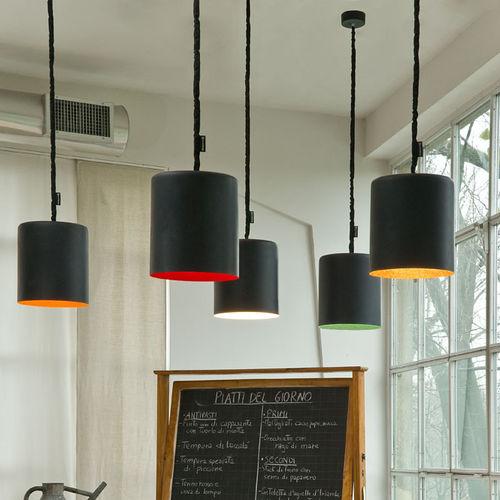 Pendant lamp / contemporary / in Nebulite® / nylon MATT : BIN LAVAGNA in-es artdesign
