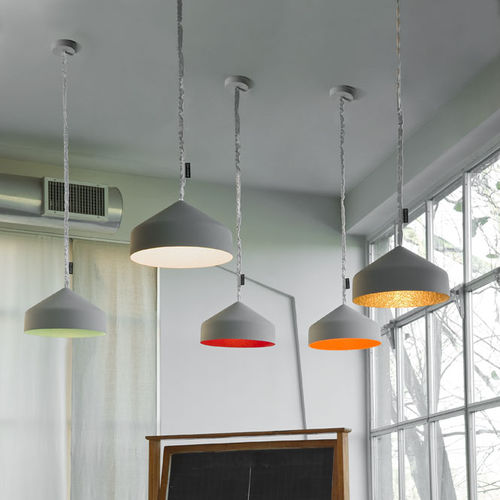 Pendant lamp / contemporary / in Nebulite® / nylon MATT : CYRCUS CEMENTO in-es artdesign