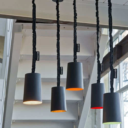 Pendant lamp / contemporary / in Nebulite® / nylon MATT : PAINT LAVAGNA in-es artdesign