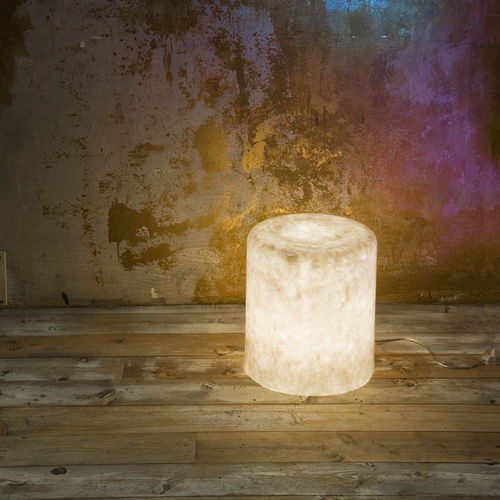 Floor lamp / contemporary / in Nebulite® / outdoor MATT : BIN F NEBULA in-es artdesign